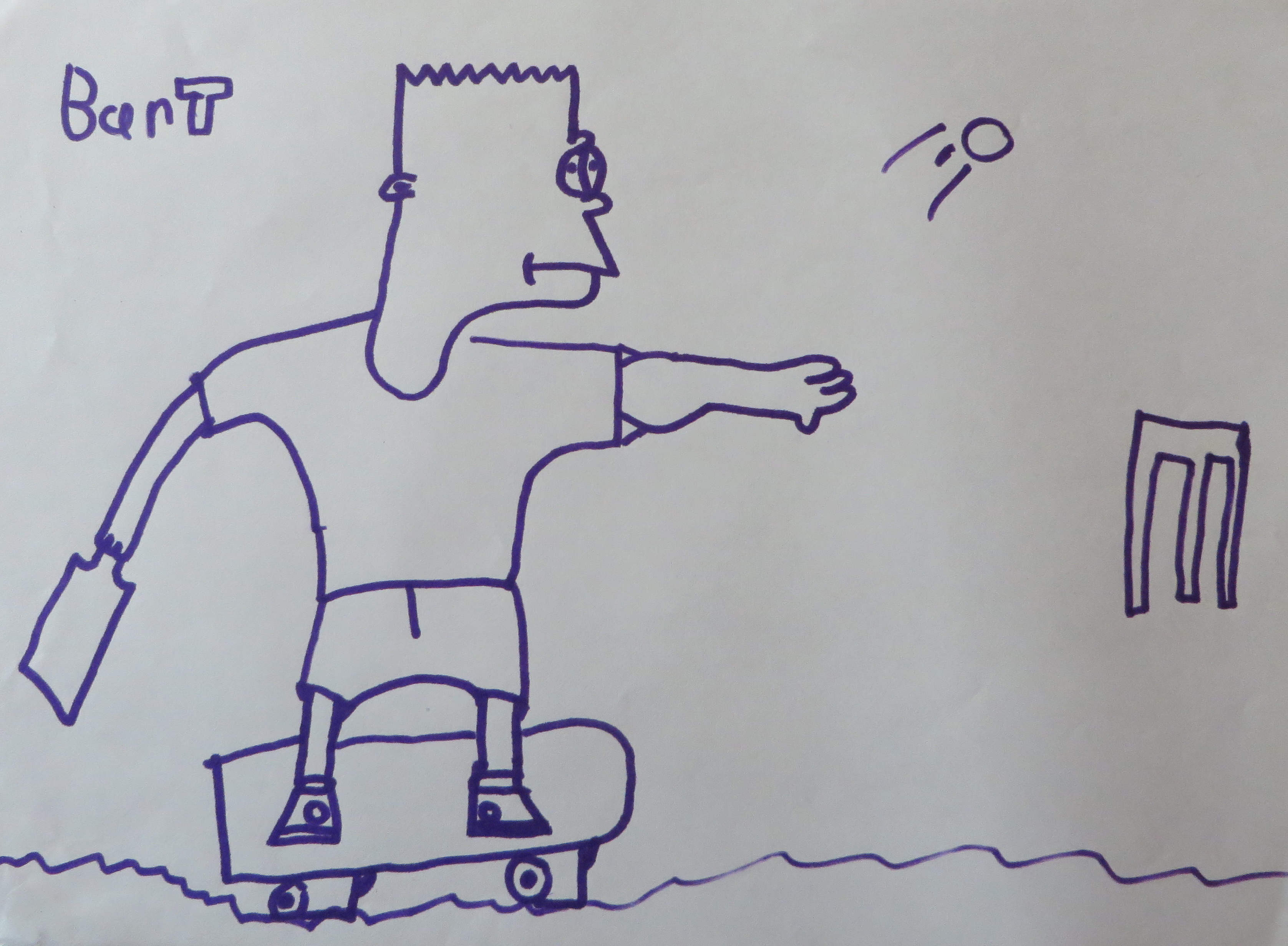 Missing image of Bart Simpson on his skateboard